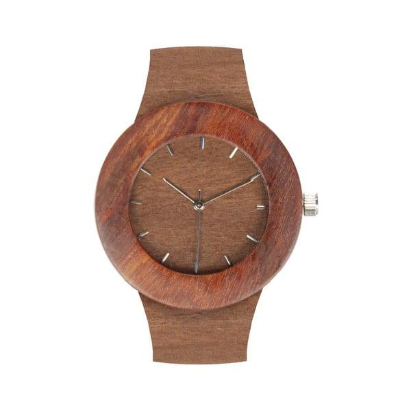 Drevené hodinky s hodinovými čiarkami Analog Watch Co. Makore