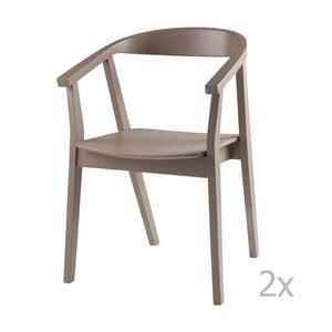 Sada 2 svetlosivých jedálenských stoličiek sømcasa Donna