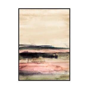 Obraz v ráme z borovicového dreva Moycor Pink Tones, 100 × 140 cm