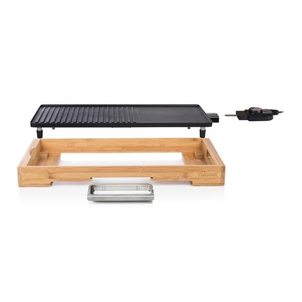 Stolový elektrický gril v bambusovom prevedení Tristar, príkon 2200 W