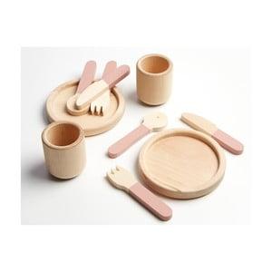 Sada dreveného detského riadu Flexa Toys Tablewear