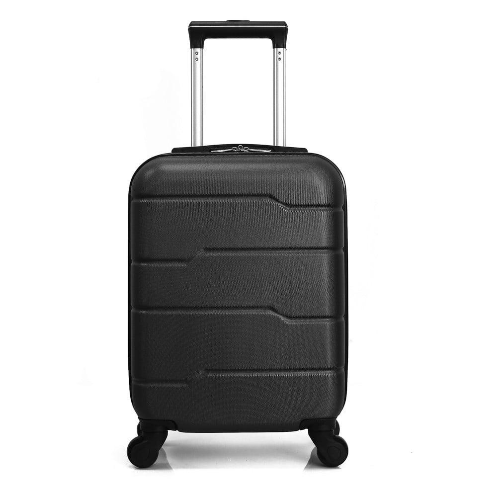 Čierny cestovný kufor na kolieskach Hero Santiago, 30 l