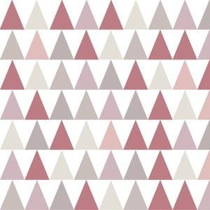 Tapeta do detskej izby s ružovými detailmi Art For Kids Triangles, 48 x 1000 cm