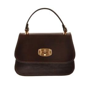 Kožená kabelka Flaux, tmavo hnedá