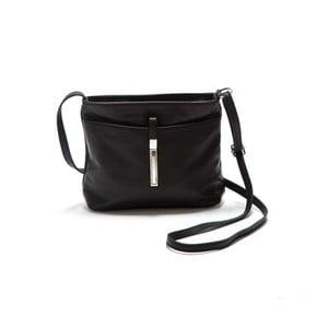Čierna kožená kabelka Roberta M Ema