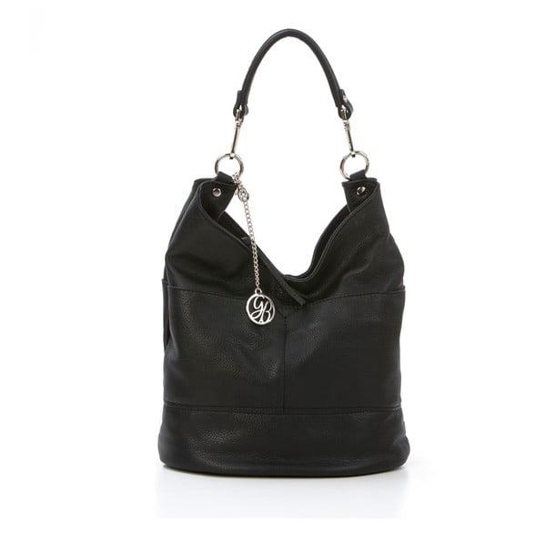 Kožená kabelka Guido, čierna