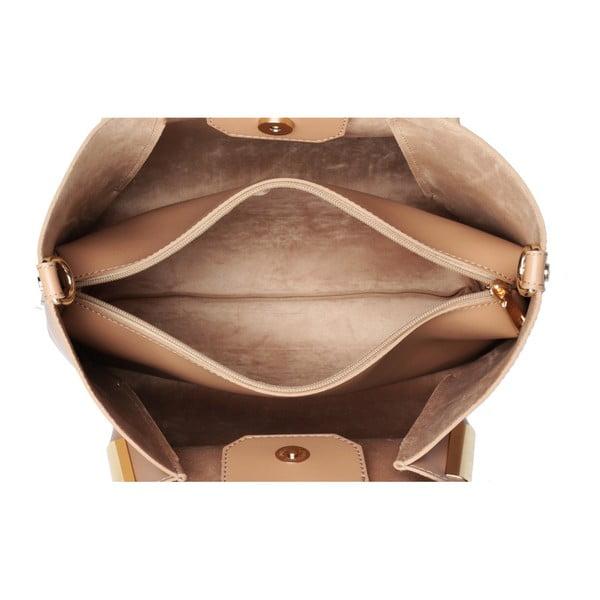 Béžová kabelka z eko kože Beverly Hills Polo Club Frederica