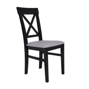 Čierna stolička so svetlosivým sedadlom BSL Concept Hinn