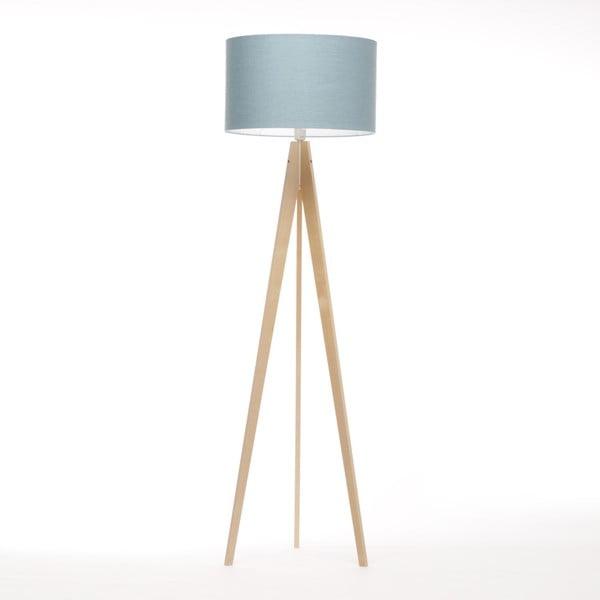 Modrosivá stojacia lampa 4room Artist, breza, 150 cm