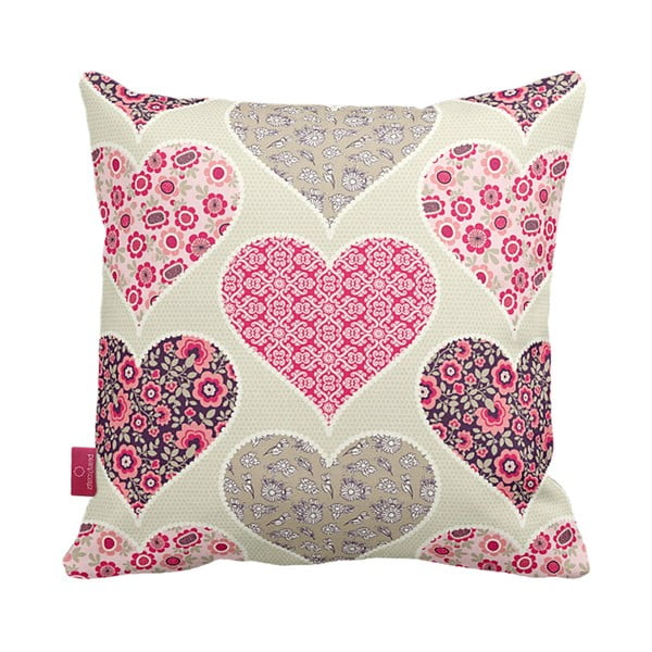 Vankúš Pink Hearts, 43x43 cm