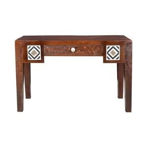 Písací stôl z mangového dreva SOB Ivory