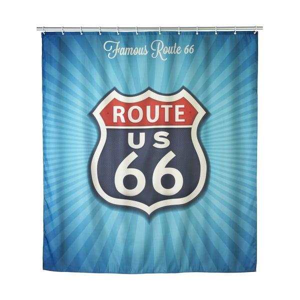 Retro sprchový záves Wenko Route 66