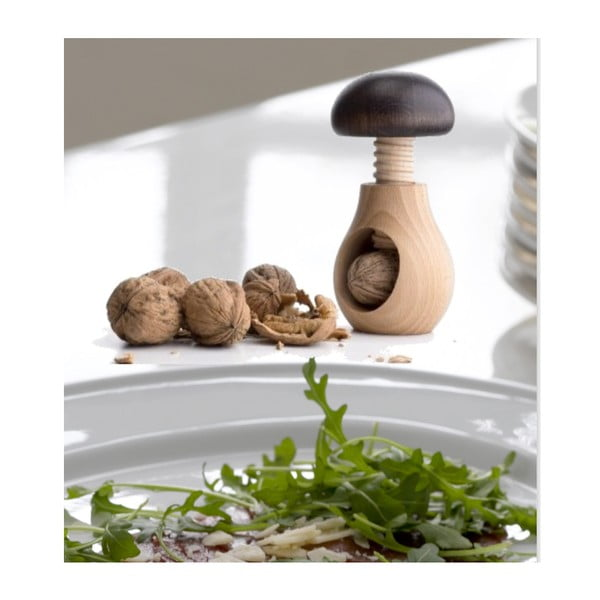 Drevený luskáčik na orechy Steel Function v tvare huby