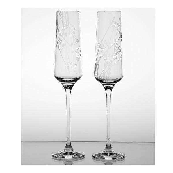 Ateliér Žampach, set 2 ks pohárov na šampanské Rasca