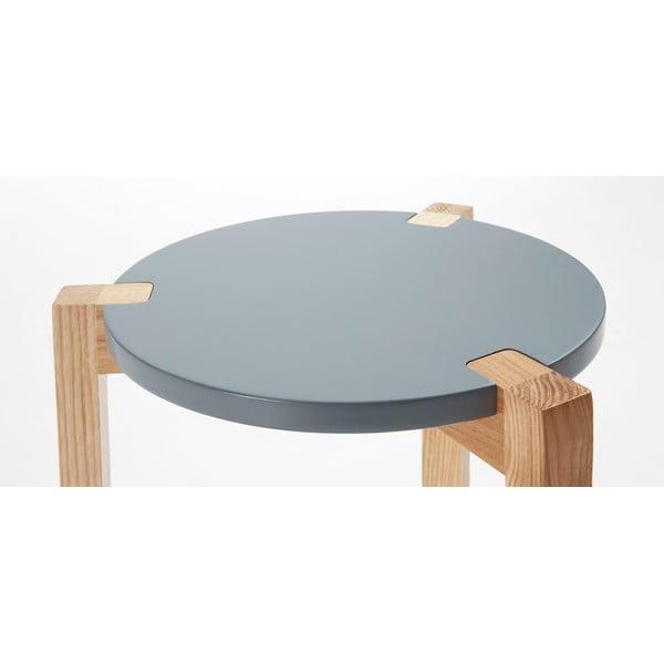 Sivý odkladací stolík La Forma Elroy