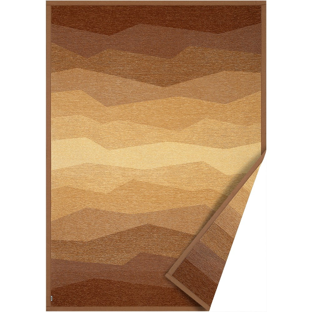 Hnedý obojstranný koberec Narma Merise, 100 x 160 cm