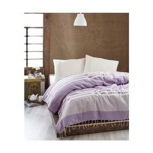 Ľahká prikrývka cez posteľ Hereke Lilac, 200x235 cm