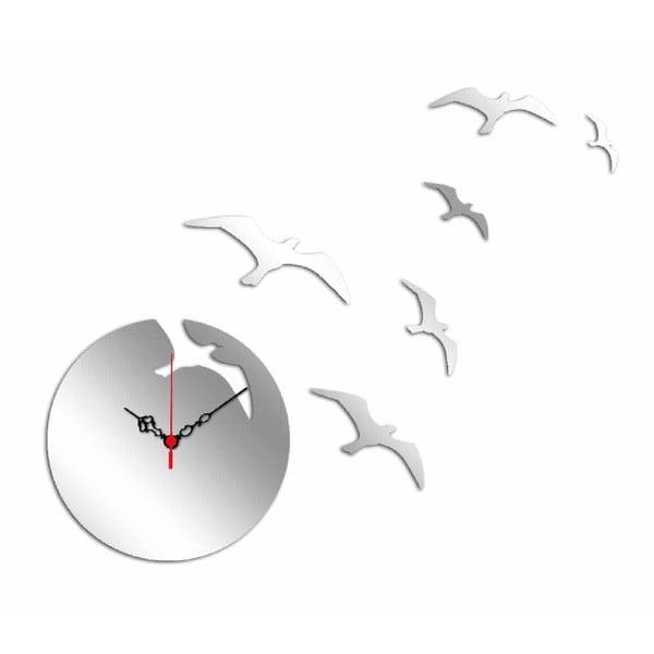 Nástenné zrkadlové hodiny Birds Moon