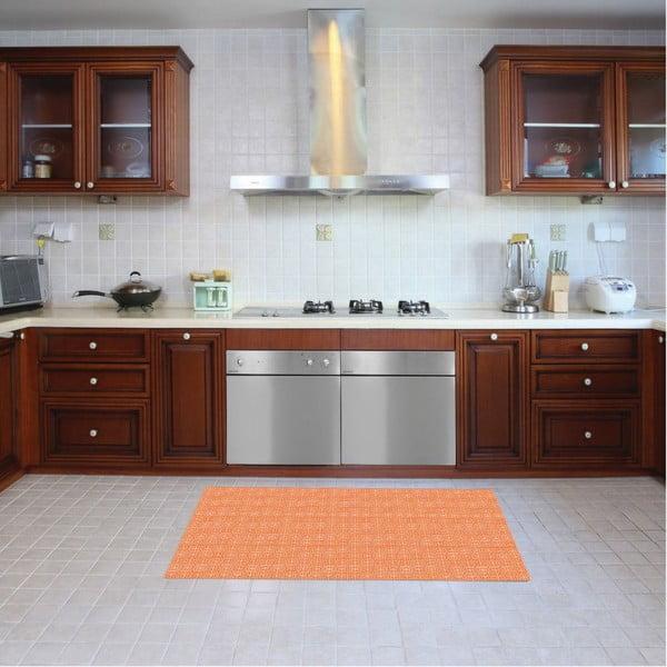 Vinylový koberec Ghazal Orange, 52x100 cm