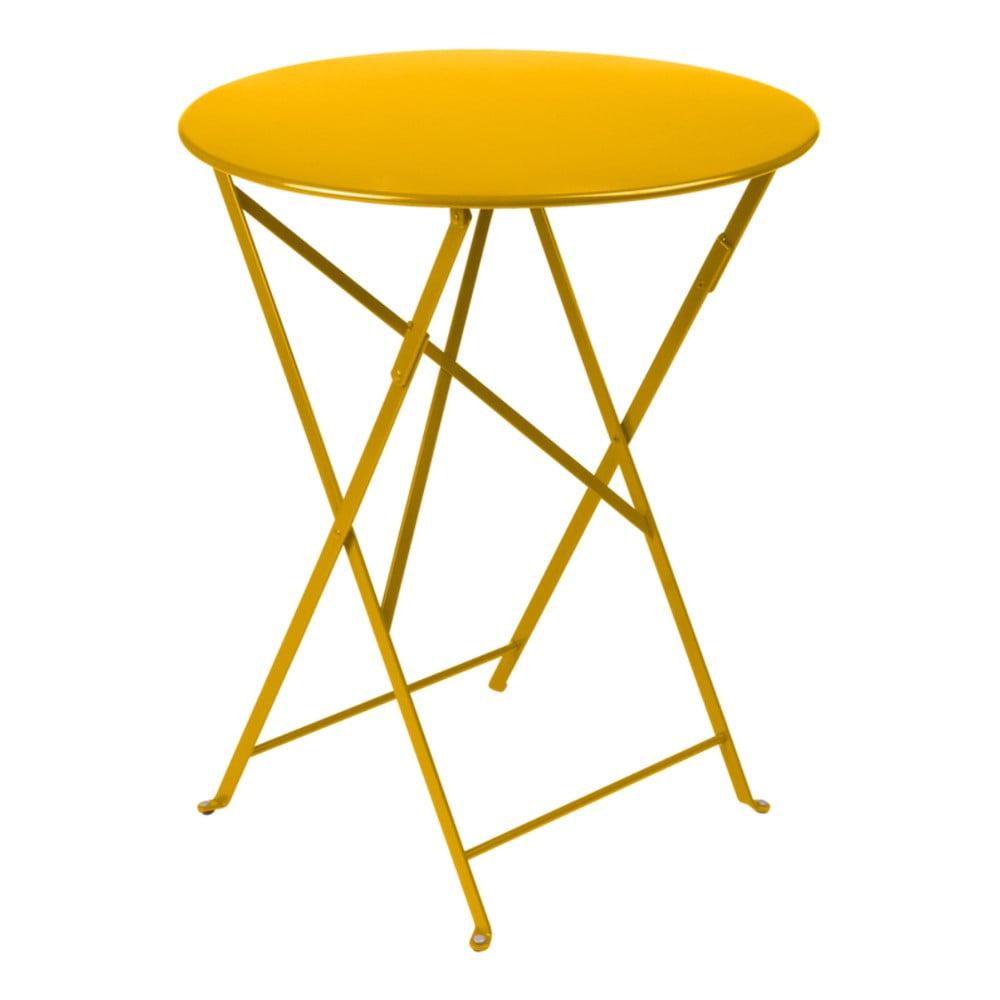 Žltý záhradný stolík Fermob Bistro, Ø 60 cm