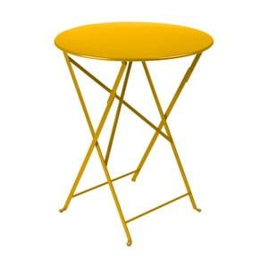 Žltý záhradný stolík Fermob Bistro, Ø60cm