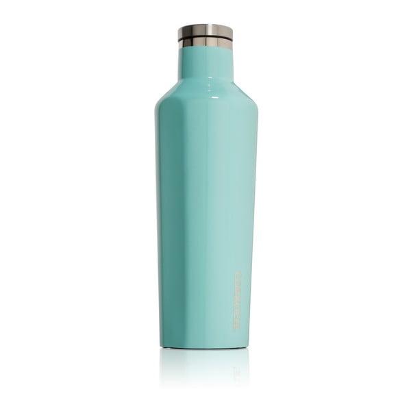 Tyrkysová cestovná termofľaša Corkcicle Canteen, 470 ml