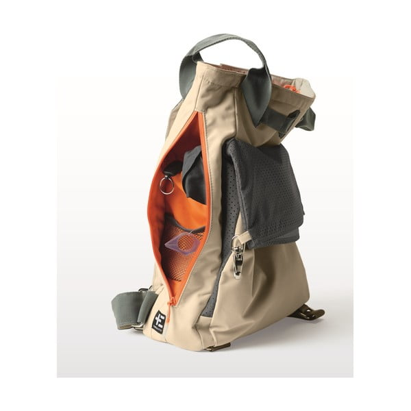 Béžová plážová taška / batoh Terra Nation Tane Kopu, 28 l