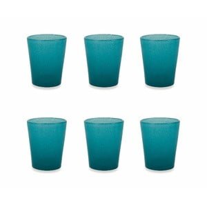 Sada 6 modrých pohárov Villa d´Este Satin