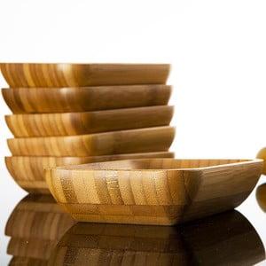 Sada 6 bambusových mištičiek Bambum Lateria