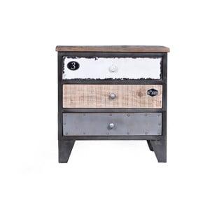 Nočný stolík z mangového dreva SOB Vintage