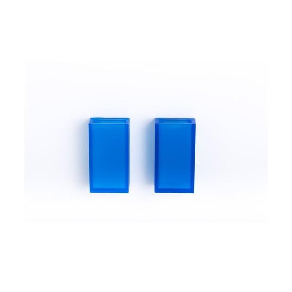 Samodržiaci nástenný stojan na zubné kefky Listo Blue, 2 ks