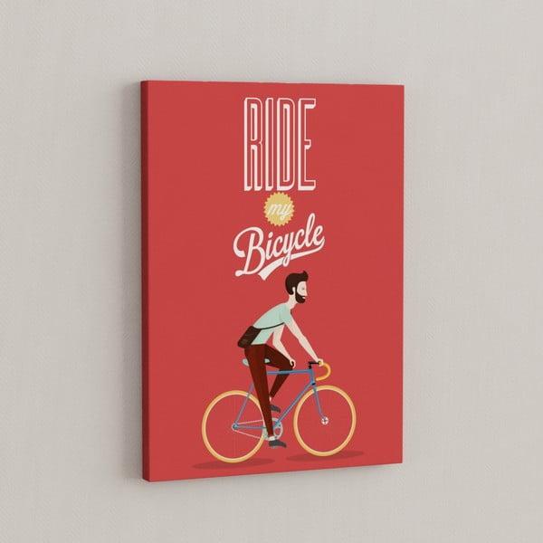 Obraz Na bicykli, 50x70 cm