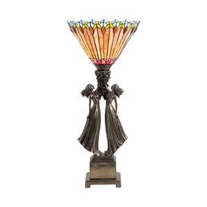 Tiffany stolná lampa Fire