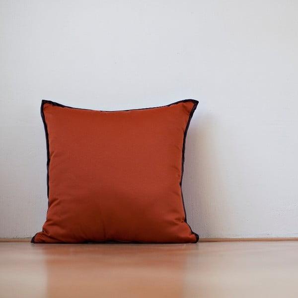 Vankúš s výplňou Orange Saten, 50x50 cm