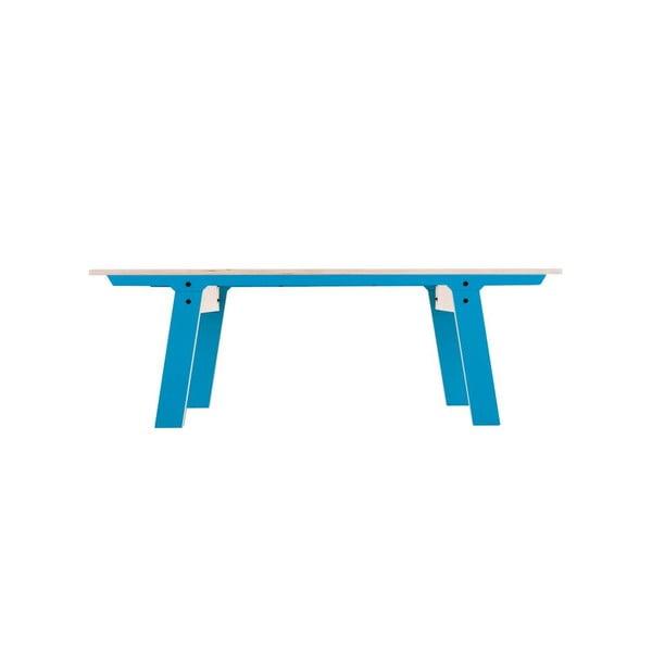 Modrá lavica na sedenie rform Slim 01, dĺžka 133 cm