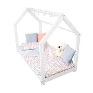 Detská biela posteľ s bočnicami Benlemi Tery, 70x140cm