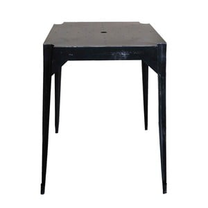 Kovový retro stôl Hayle, čierny