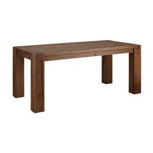 Tmavohnedý jedálenský stôl z masívneho dubového dreva Støraa Matrix, 90×180cm