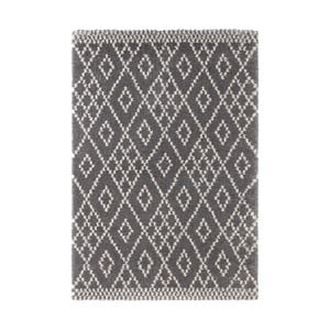 Tmavosivý koberec Mint Rugs Ornament, 80 x 150 cm