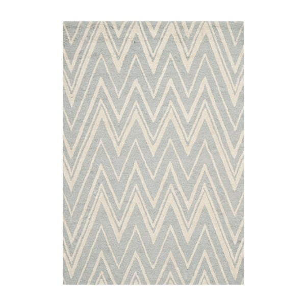 Vlnený koberec Luca Light Blue, 91x152 cm