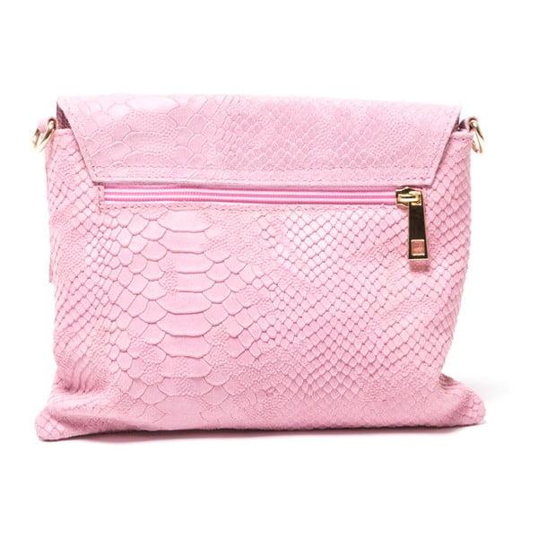 Kožená kabelka Delfina, ružová