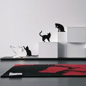 Sada 3 samolepiek Ambiance Three Funny Cats