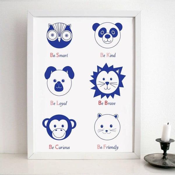 Plagát Nursery Blue, 30x40 cm
