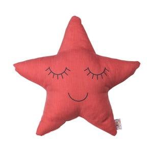 Červený detský vankúšik s prímesou bavlny Apolena Pillow Toy Star, 35 x 35 cm