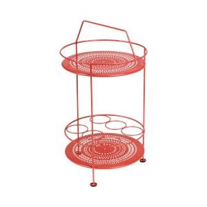 Červený záhradný barový stolík Fermob Montmartre, Ø 40cm