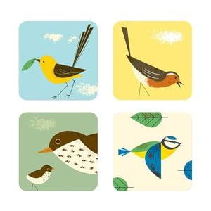 Sada 4 podložiek Birdy