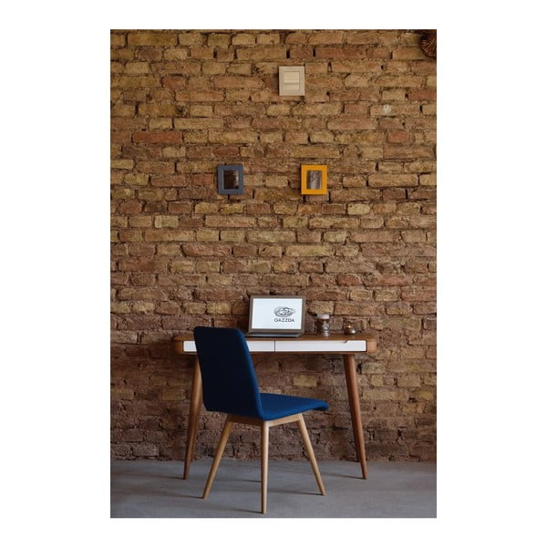 Pracovný stôl z dubového dreva Gazzda Ena, 140 x 60 x 75 cm
