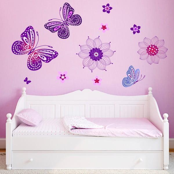 Dekoratívna samolepka na stenu Čarovné motýle