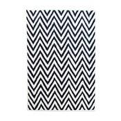 Vlnený koberec Ziggy Ivory Black, 122x183cm