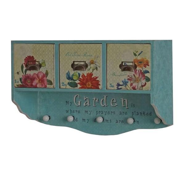 Vešiak s úložným priestorom Shabby Vintage Look